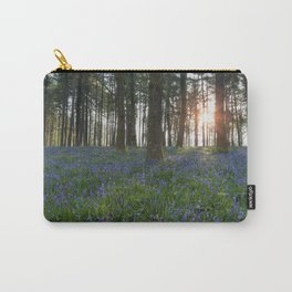 Sunlit Bluebell Woods Carry-All Pouch