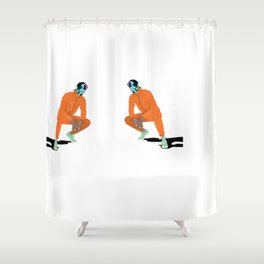 Asap Rocky Ft Bape Shower Curtain