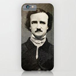 Edgar Allan Poe Engraving iPhone Case