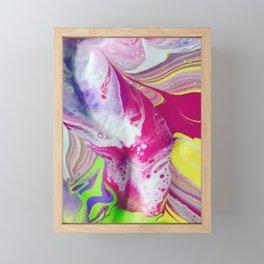 Let it flow Framed Mini Art Print