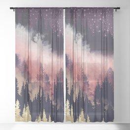 Evening Glow Sheer Curtain