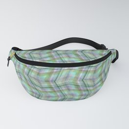 Overlapping lines in turquoise. Fanny Pack
