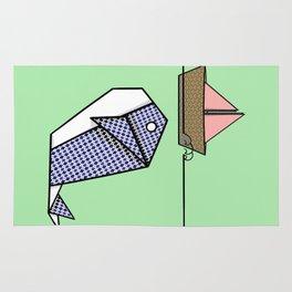 Origami Whale Rug
