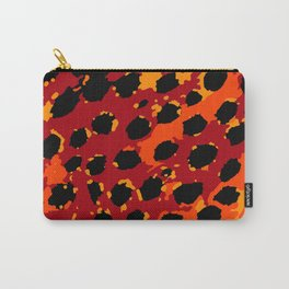 Cheetah Spots in Red, Orange and Yellow Carry-All Pouch