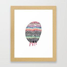 Chill Skeleton Framed Art Print
