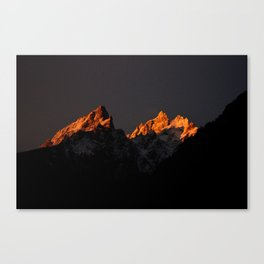 Good Morning Tetons Canvas Print