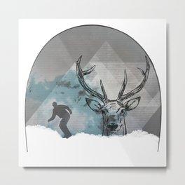 Cool Snowboarding Pattern Metal Print