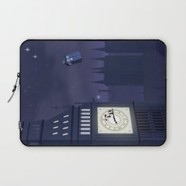 Second Star to the Right, Straight on to Gallifrey Laptop Sleeve