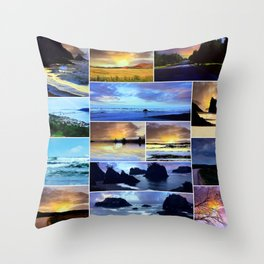 Scenic Photo Art Collage Throw Pillow