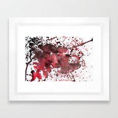 Red and Black  Framed Art Print