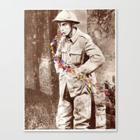 soldier Canvas Prints featuring Soldier by Ben Giles