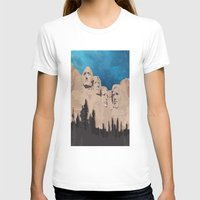 rushmore T-shirts featuring Night Mountains No. 15 by Bakmann Art
