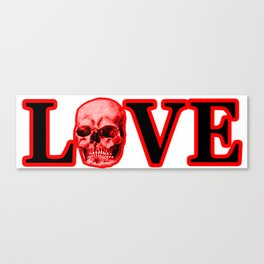 Love Red Skull The MUSEUM Zazzle Gifts Canvas Print