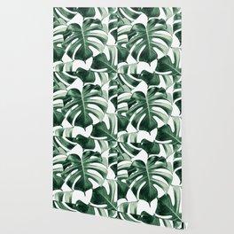 Tropical Monstera Leaves Dream #2 #tropical #decor #art #society6 Wallpaper