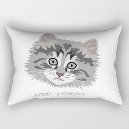 A Kitten's Eyes Rectangular Pillow