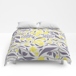 Yellow flowers field Comforters