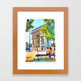The Arc de Triomphe Paris Framed Art Print