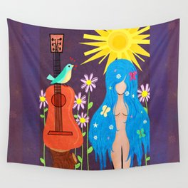 Music Makes Love and Love Makes Music Wall Tapestry