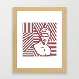 Gods Geometric - Ares Framed Art Print