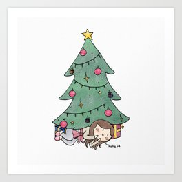 Christmas Surprise Art Print