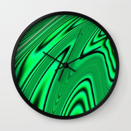 Abstract Fractal Colorways 03 Malalchite  Wall Clock