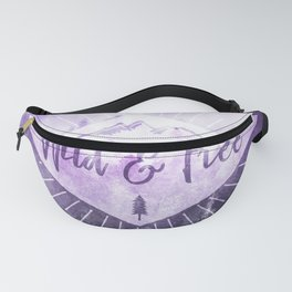 Wild And Free - Ultraviolet Purple Forest Fanny Pack