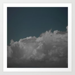 Cloudy blue Art Print