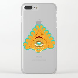 All Seeing Eye Gal Clear iPhone Case