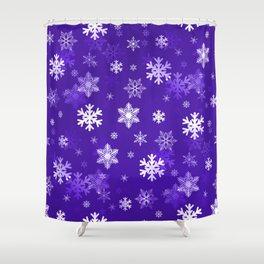 Light Purple Snowflakes Shower Curtain