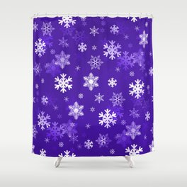 Light Purple Snowflakes Shower Curtain
