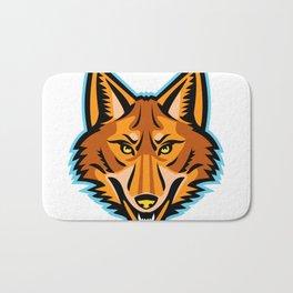 Coyote Head Front Mascot Bath Mat