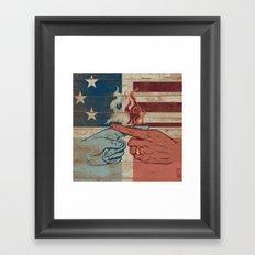 Blame US Framed Art Print
