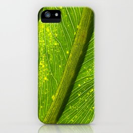 Spotted Leaf iPhone Case