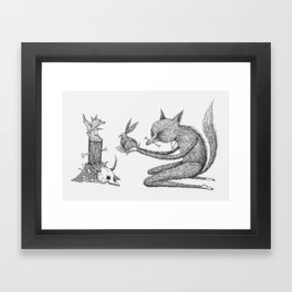 'Offering' - Grey Framed Art Print