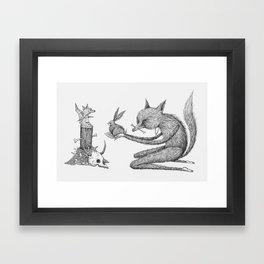 'Offering' - Grey Framed Art Print
