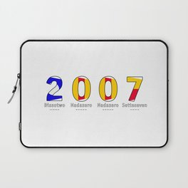 2007 - NAVY - My Year of Birth Laptop Sleeve