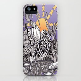 Zentangle Daylight in the Swamp iPhone Case