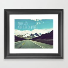 never lose your sense of wonder Framed Art Print