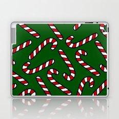Candy Cane Pattern Dark Green Laptop & iPad Skin