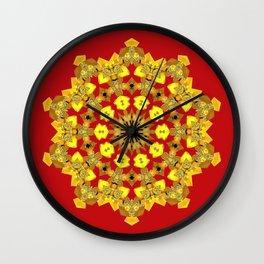 Ornamental Star (gold) Wall Clock