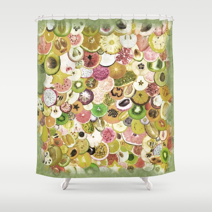 Fruit Madness (All The Fruits) Vintage Shower Curtain by sonqblack ...