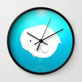 Fat Beluga Whale Wall Clock