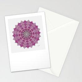 12-Fold Mandala Flower in Pink Stationery Cards