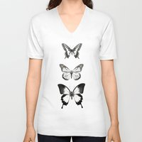 butterflies V-neck T-shirts featuring Butterflies // Align by Amy Hamilton
