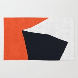 Blue and red modern art IX Rug