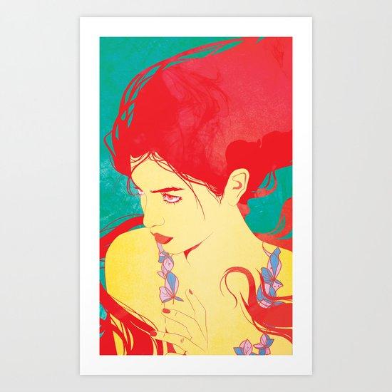 RED HAIR Art Print