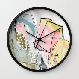 Dana Abstract Print Wall Clock
