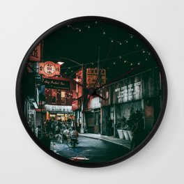 CHINATOWN II Wall Clock