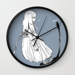 With a shadow cat Wall Clock