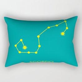 SCORPIO (YELLOW-TEAL STAR SIGN) Rectangular Pillow